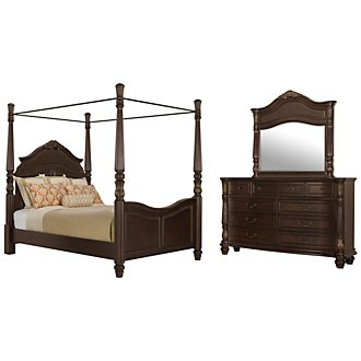 Tradewinds Dark Tone Woven Canopy Bedroom