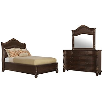 Tradewinds Dark Tone Woven Platform Bedroom