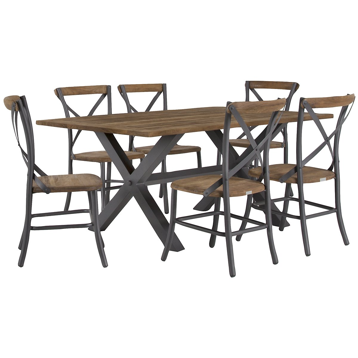 "Canyon Dark Tone 72"" Rectangular Table & 4 Chairs"