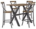 "Canyon Dark Tone 54"" Pub Table & 4 Barstools"