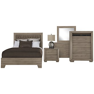 Product Image: Adele2 Light Tone Bonded Leather Platform Bedroom Package
