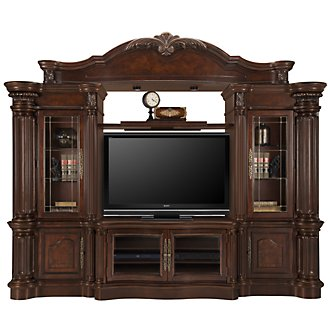 Regal3 Dark Tone Small Entertainment Wall