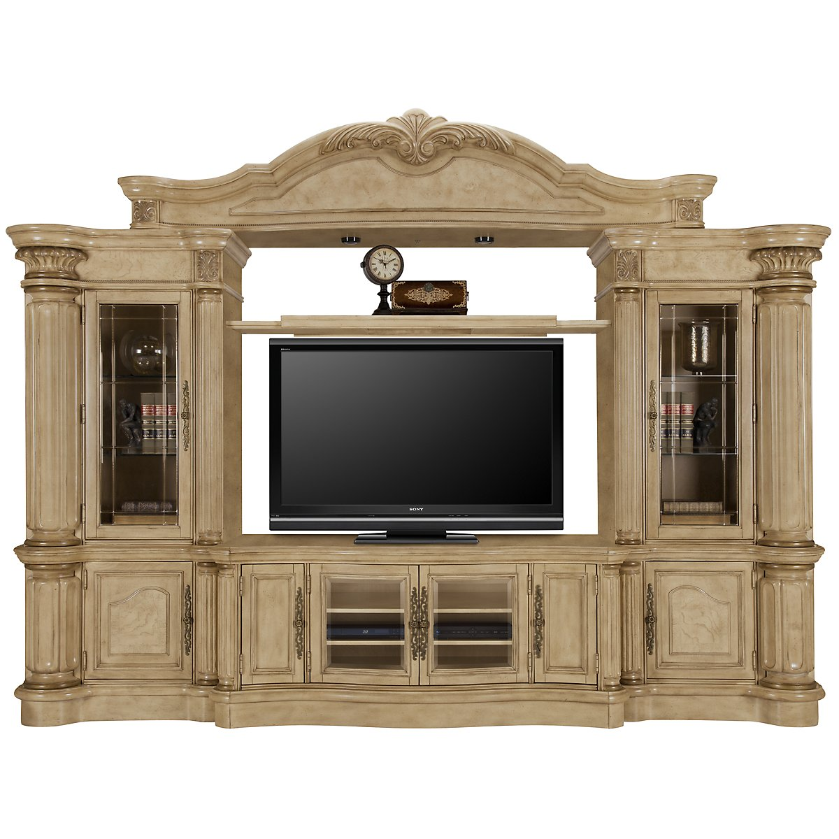 Regal3 Light Tone Large Entertainment Wall