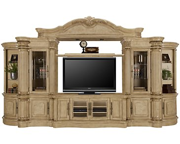 Regal3 Light Tone Large Entertainment Wall with Corners