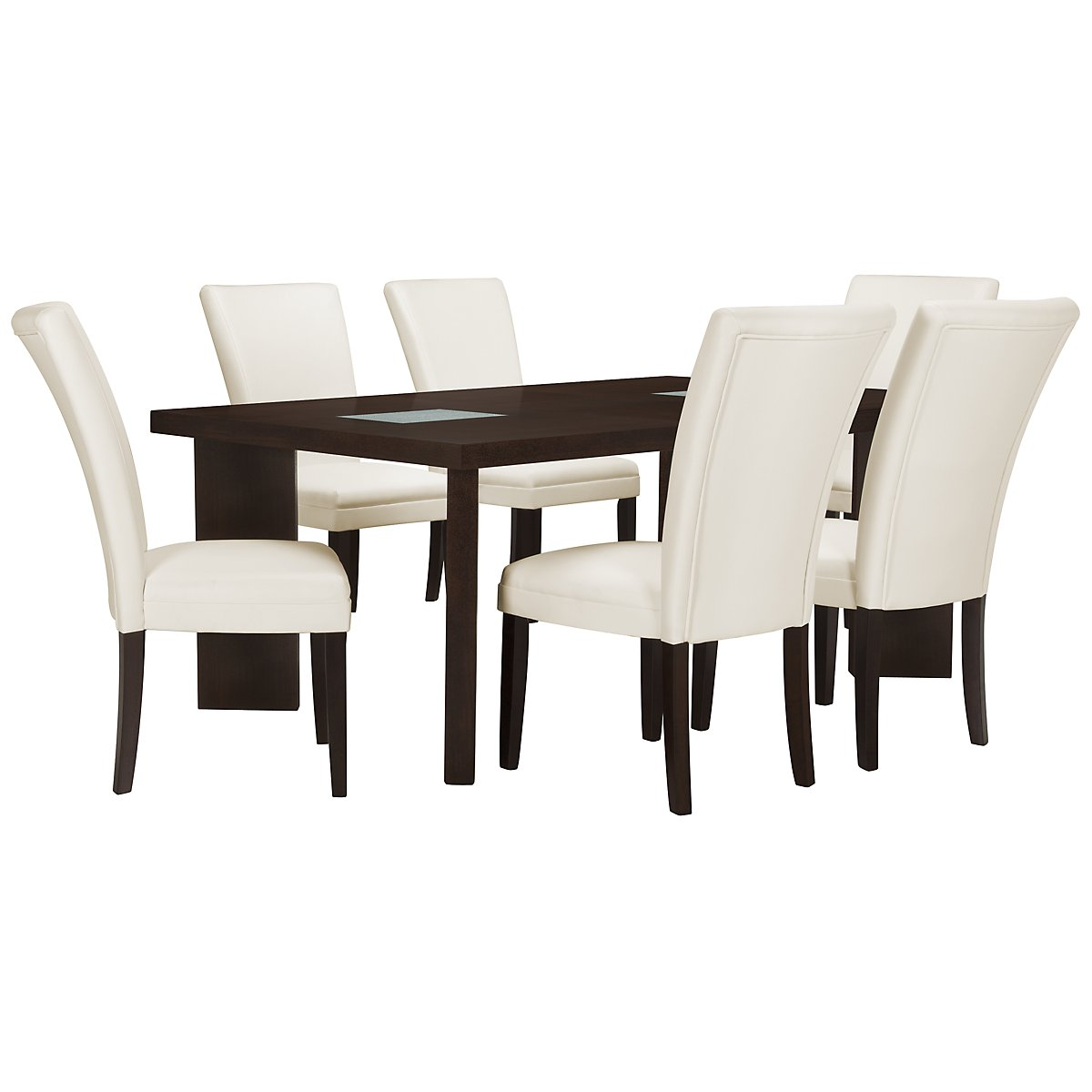 Delano2 White Rectangular Table & 4 Bonded Chairs