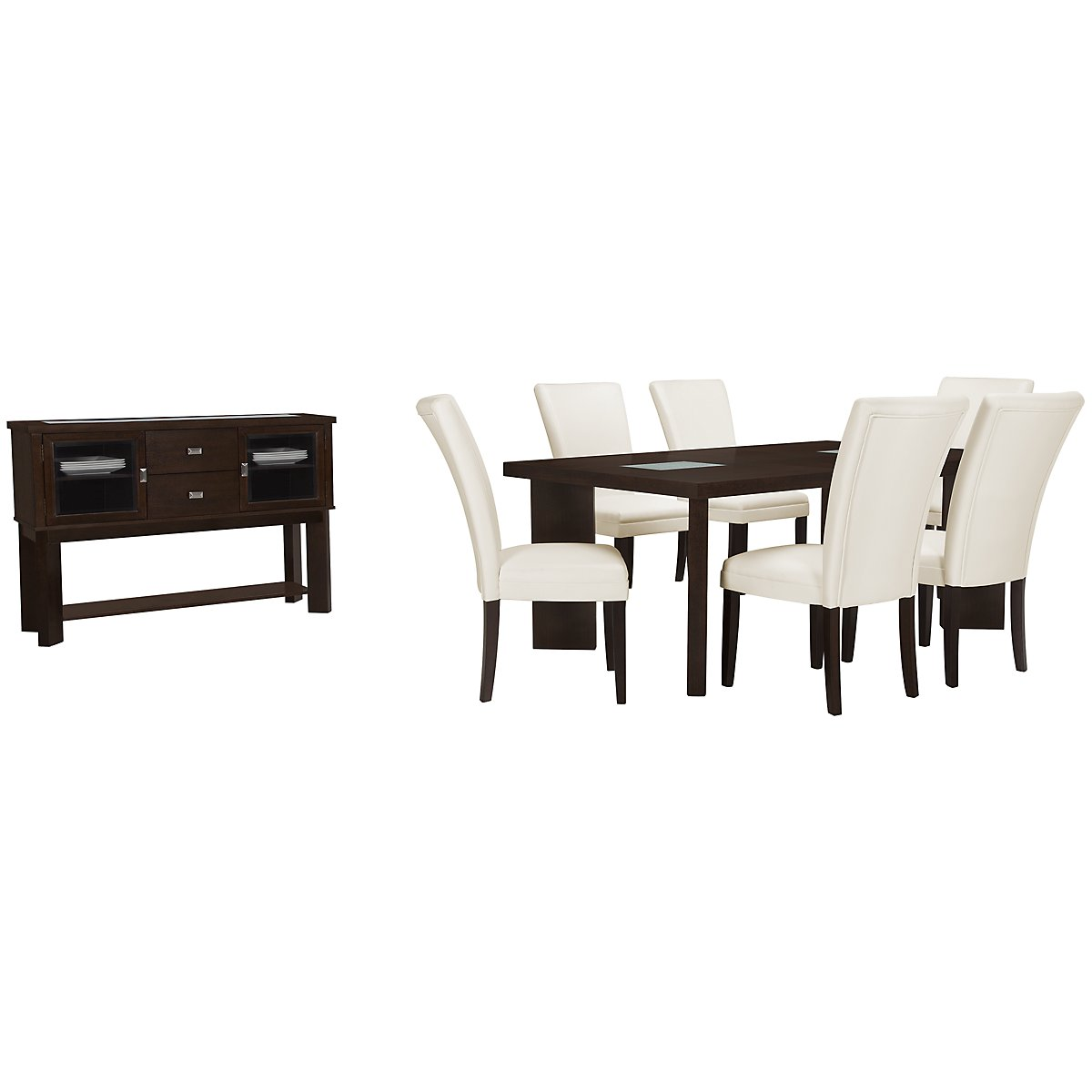 Delano2 White Rectangular Dining Room