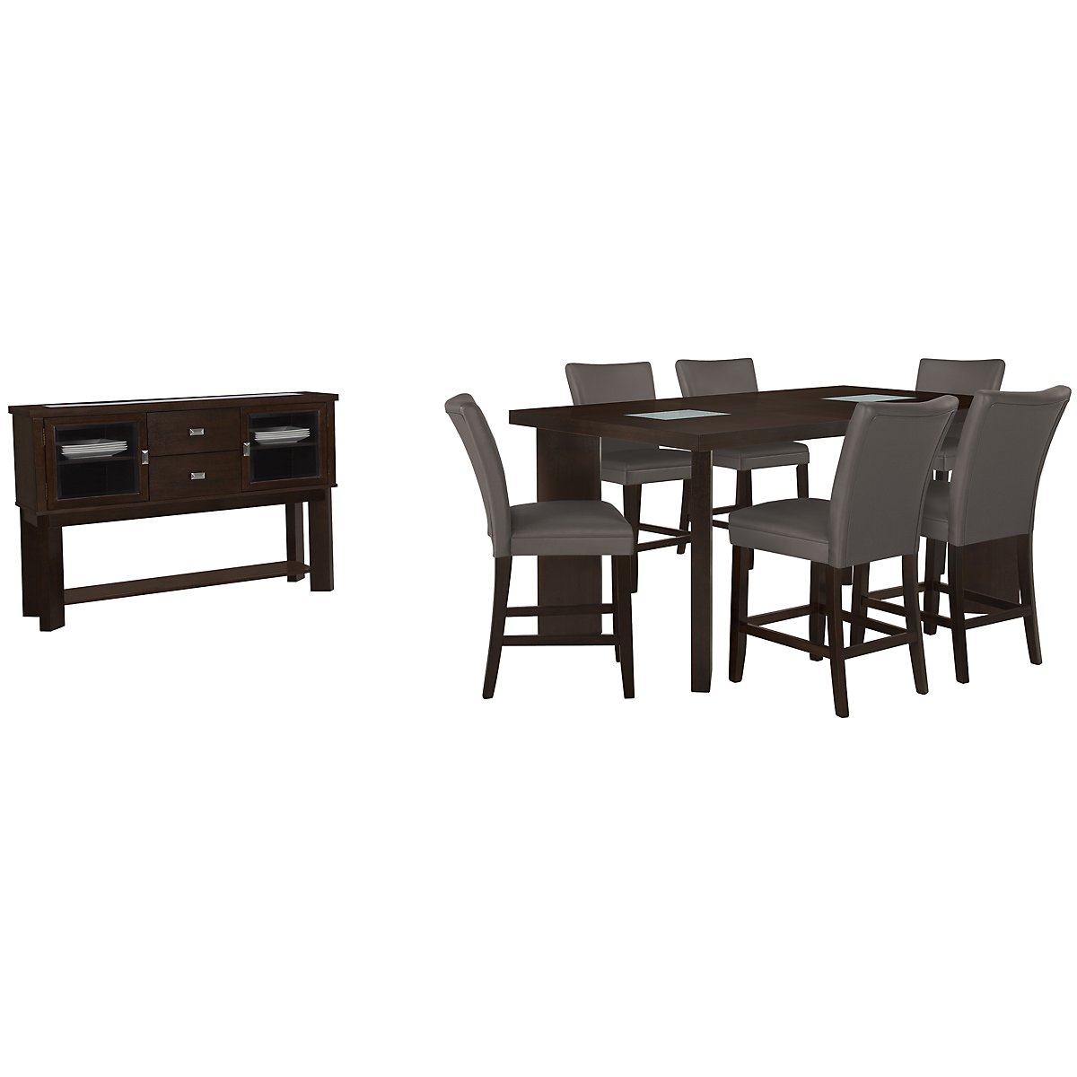 Delano2 Dark Gray High Dining Room