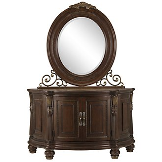 Tradewinds Dark Tone Server & Mirror