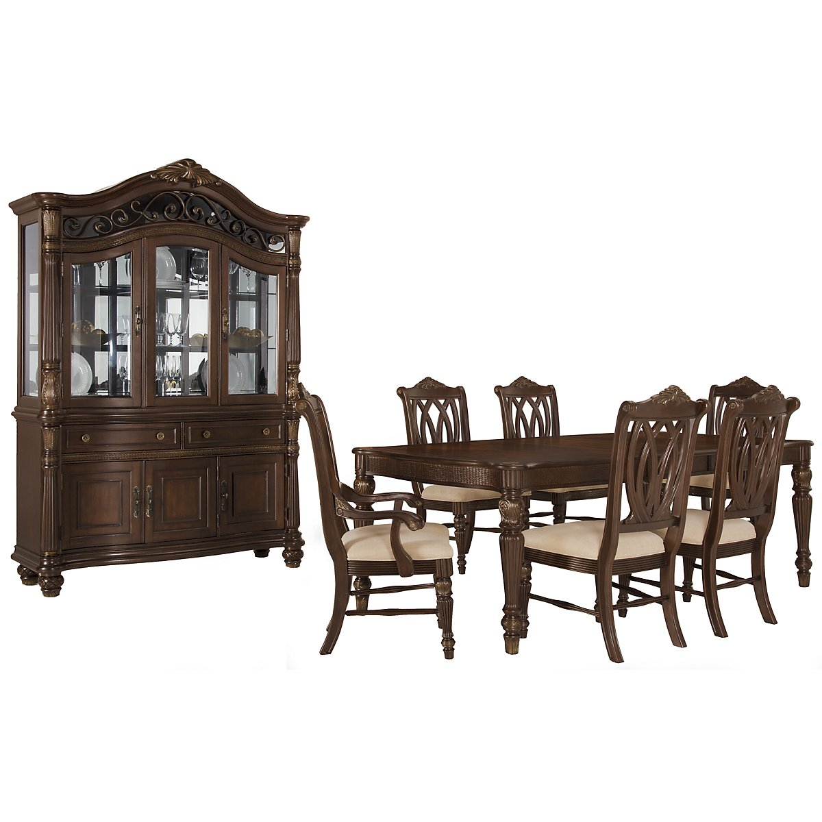 city furniture tradewinds dark tone rectangular dining room
