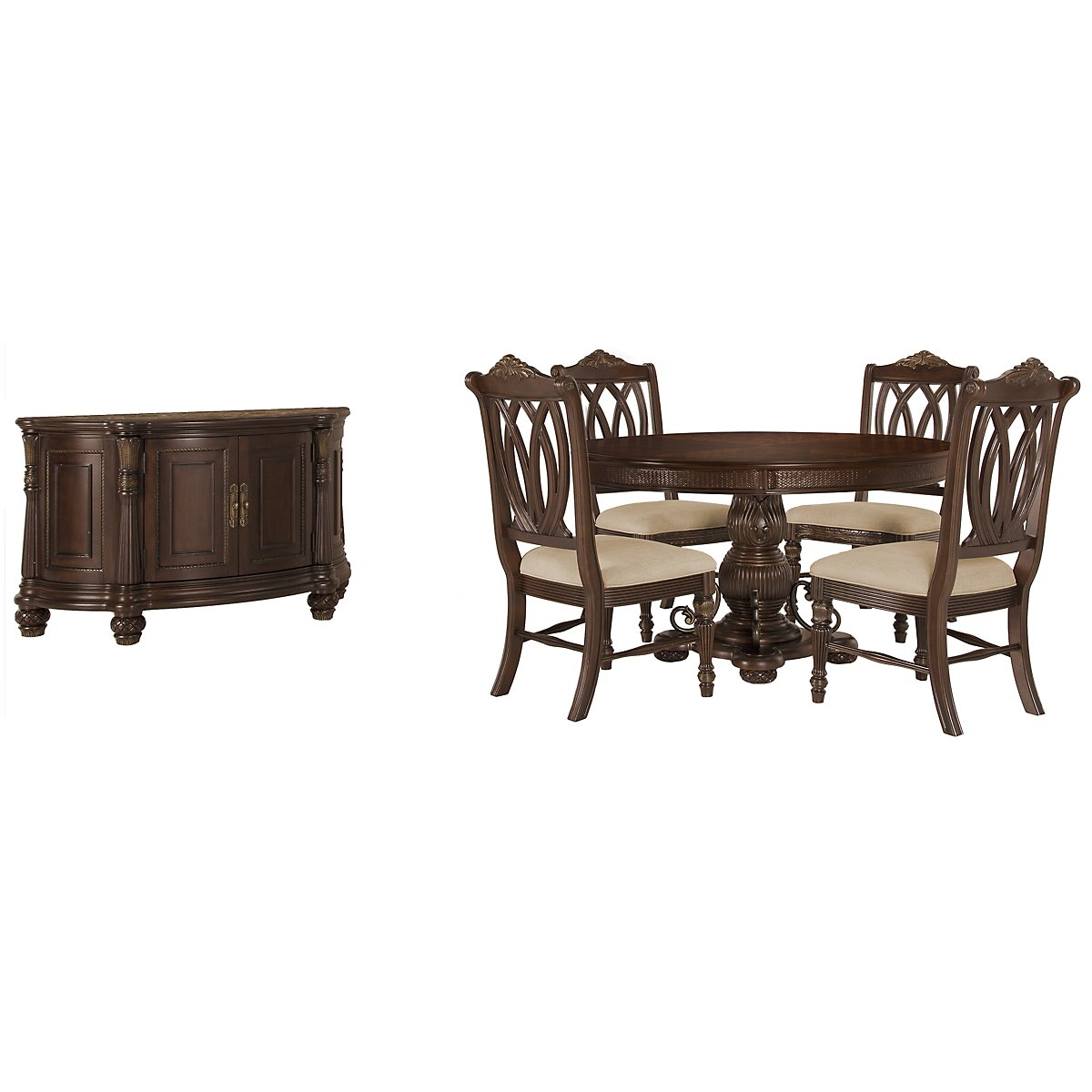 Tradewinds Dark Tone Round Dining Room