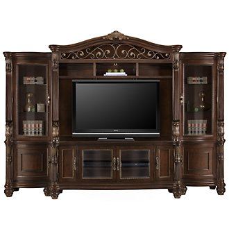 Tradewinds Dark Tone Entertainment Wall