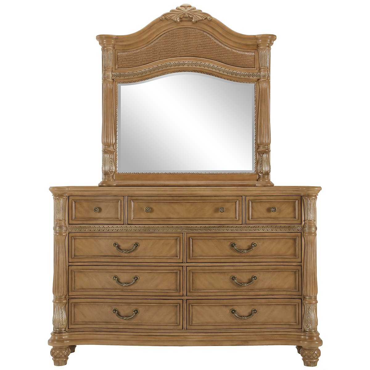 Tradewinds Light Tone Woven Dresser & Mirror
