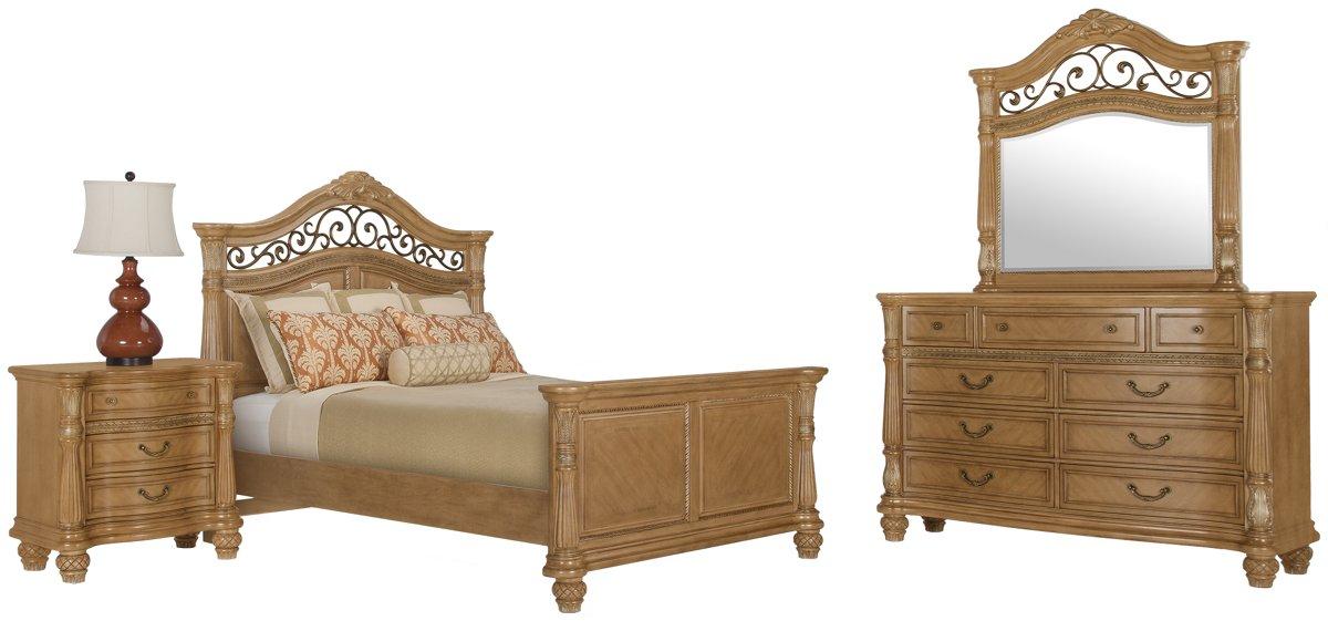 City Furniture Tradewinds Light Tone Mansion Bedroom