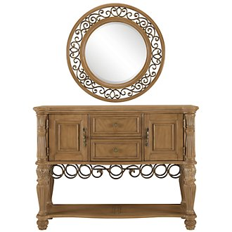 Tradewinds Light Tone Metal Sideboard & Mirror