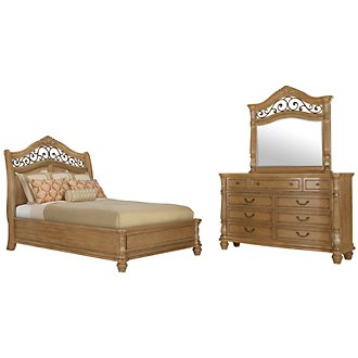 Tradewinds Light Tone Platform Bedroom