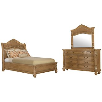Tradewinds Light Tone Woven Platform Bedroom