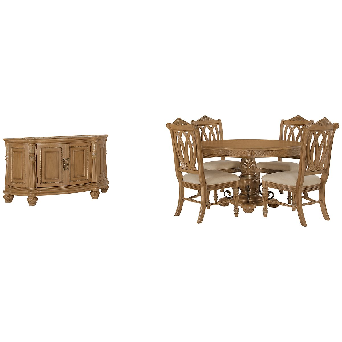 Tradewinds Light Tone Round Dining Room