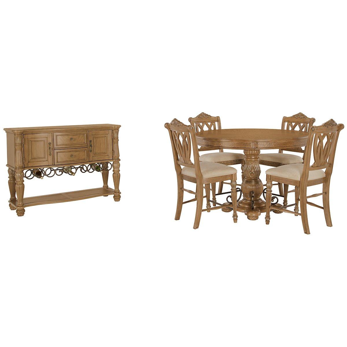city furniture tradewinds light tone round high dining room