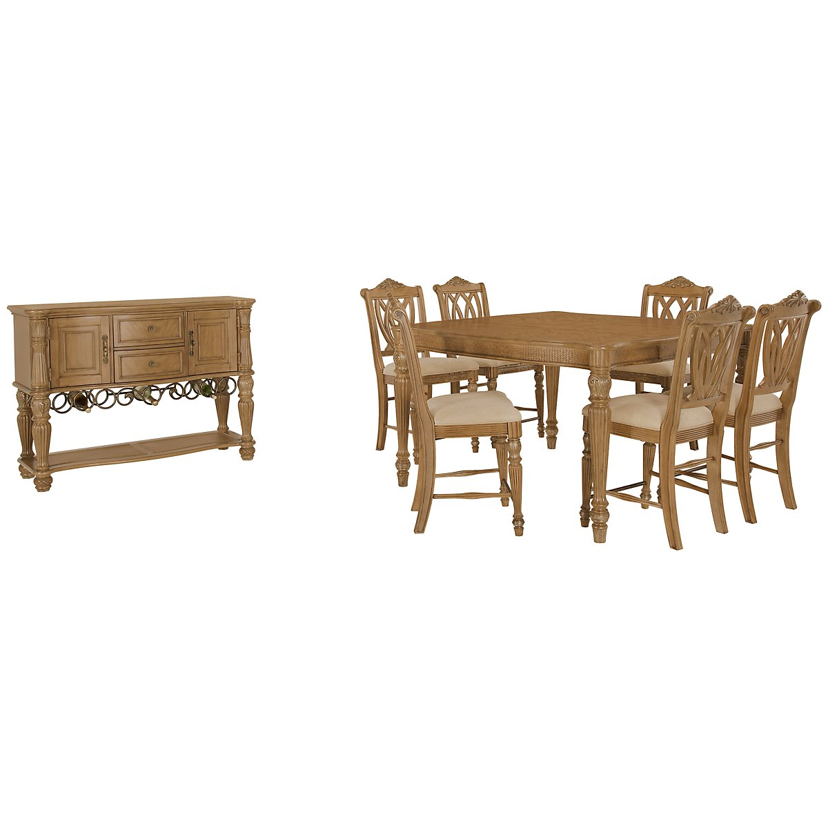Tradewinds Light Tone Square High Dining Room
