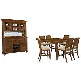 Claire Mid Tone Woven High Dining Room