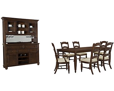 Claire Dark Tone Rectangular Dining Room