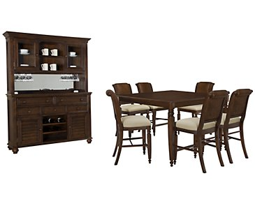 Claire Dark Tone Woven High Dining Room