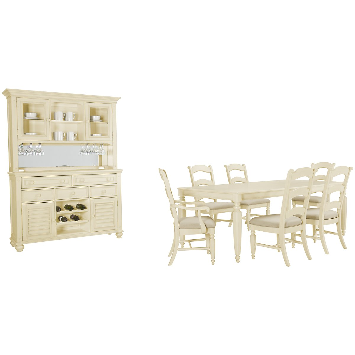 Claire White Rectangular Dining Room
