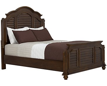 Claire Dark Tone Mansion Bed