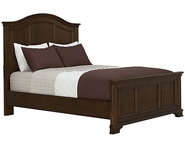 Claire Dark Tone Panel Bed