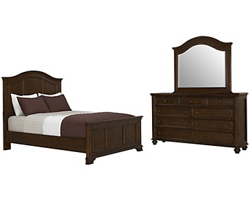 Claire Dark Tone Panel Bedroom