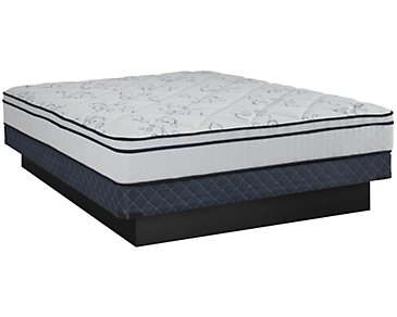 Kevin Charles Prescott Plush Innerspring Euro Top Low-Profile Mattress Set