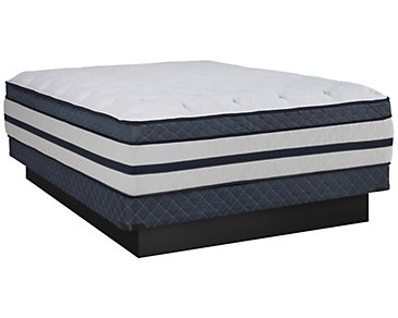 Kevin Charles Resort Plush Innerspring Euro Top Low-Profile Mattress Set