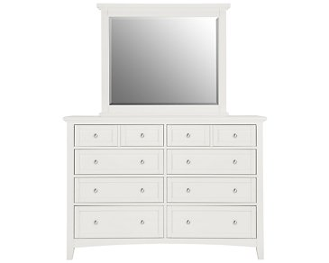 Captiva White Large Dresser & Mirror