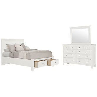 Product Image: Captiva White Panel Storage Bedroom