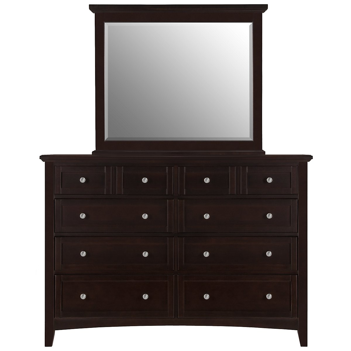 Captiva Dark Tone Large Dresser & Mirror