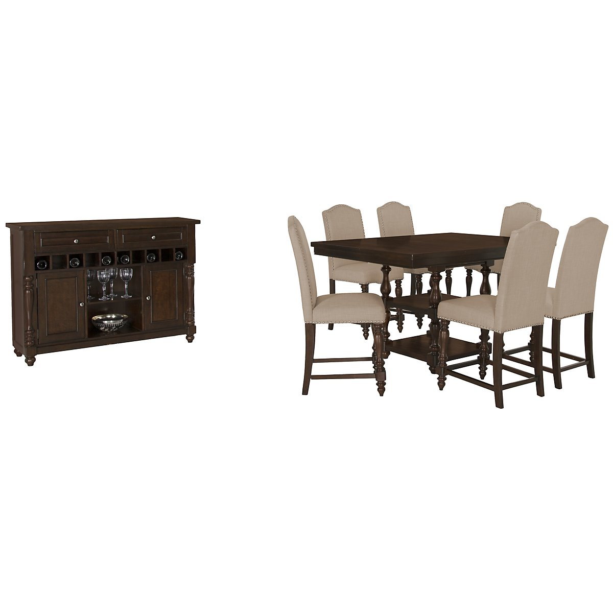Mcgregor Dark Tone High Dining Room