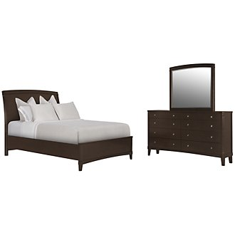 Verona Dark Tone Wood Panel Bedroom