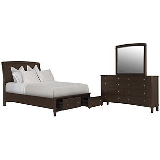 Product Image: Verona Dark Tone Wood Panel Storage Bedroom