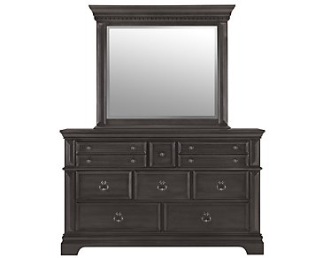 Emerson Gray Dresser & Mirror