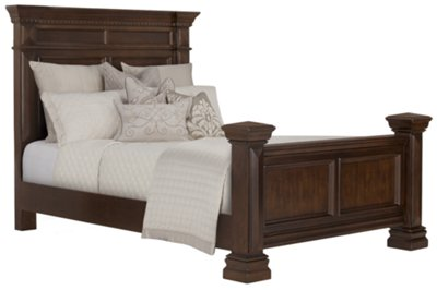 Image Of Emerson Dark Tone Panel Bed With  Sku:CNF_9706255_FS 025ESSEX 0703002