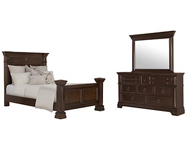 Emerson Dark Tone Panel Bedroom