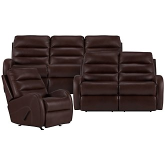 Product Image: Carver Brown Microfiber Manually Reclining Living Room
