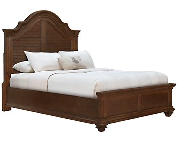 Antigua Mid Tone Panel Bed