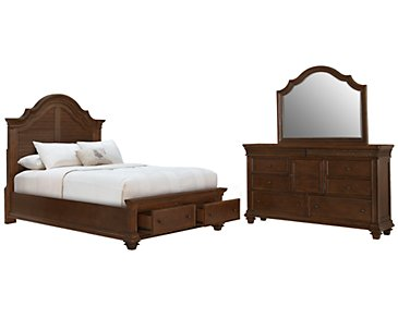 Antigua Mid Tone Panel Storage Bedroom