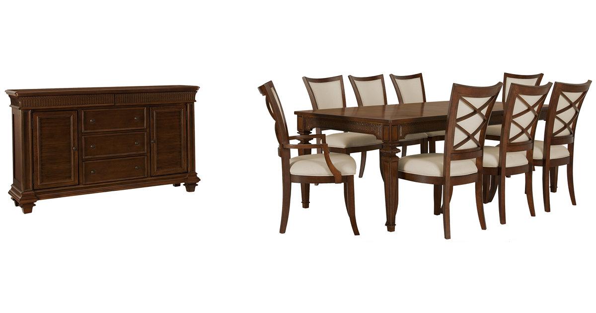 City Furniture Antigua Mid Tone Rectangular Dining Room