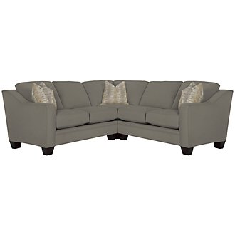 Product Image: Ellis Gray Fabric Small Two-Arm Sectional