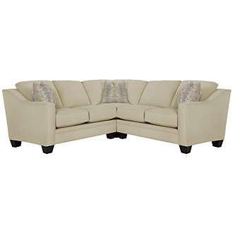 Product Image: Ellis Beige Fabric Small Two-Arm Sectional