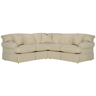 Product Image: Sara Lt Green Stripe Small Two-Arm Sectional