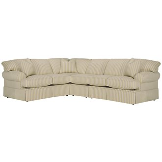 Product Image: Sara Lt Green Stripe Large Two-Arm Sectional