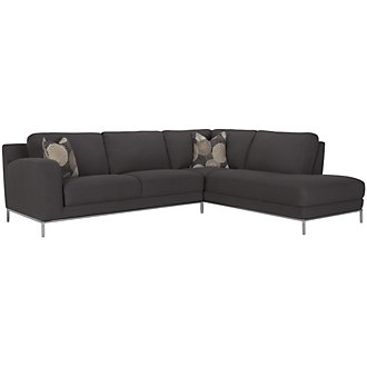 Product Image: Aria Dk Gray Fabric Right Bumper Sectional